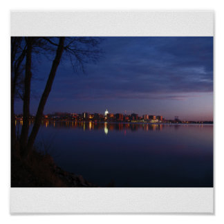 Madison, Wisconsin Skyline Poster