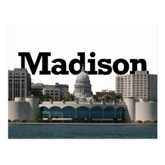 Madison Wisconsin Skyline with Madison in the Sky Postcard