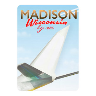 Madison Wisconsin USA Vintage flight poster Card