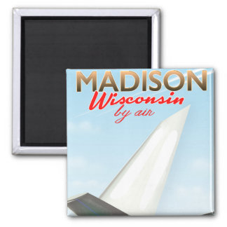 Madison Wisconsin USA Vintage flight poster Magnet