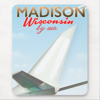 Madison Wisconsin USA Vintage flight poster Mouse Pad