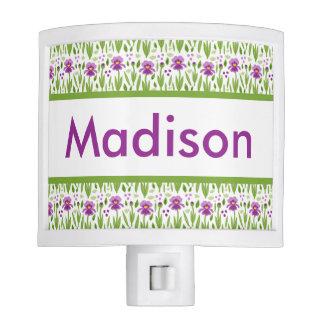 Madison's Personalized Iris  Night Light