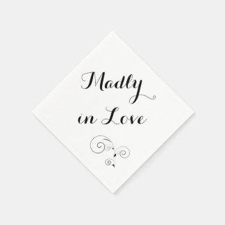 Madly in Love - White Napkin Disposable Napkins