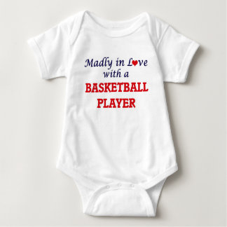 Madly in love with a Basketball Player Baby Bodysuit