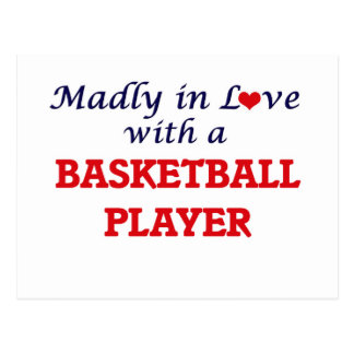 Madly in love with a Basketball Player Postcard