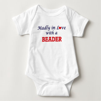 Madly in love with a Beader Baby Bodysuit