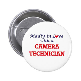 Madly in love with a Camera Technician 2 Inch Round Button