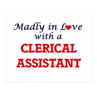 Madly in love with a Clerical Assistant Postcard