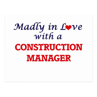 Madly in love with a Construction Manager Postcard