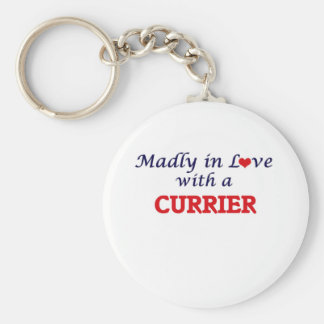 Madly in love with a Currier Basic Round Button Keychain