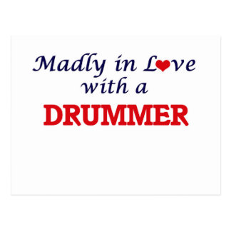 Madly in love with a Drummer Postcard
