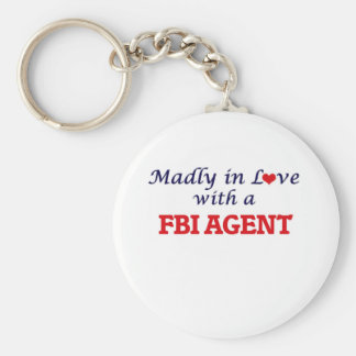 Madly in love with a Fbi Agent Basic Round Button Keychain
