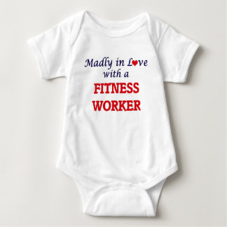 Madly in love with a Fitness Worker Baby Bodysuit