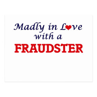 Madly in love with a Fraudster Postcard