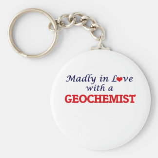 Madly in love with a Geochemist Basic Round Button Keychain