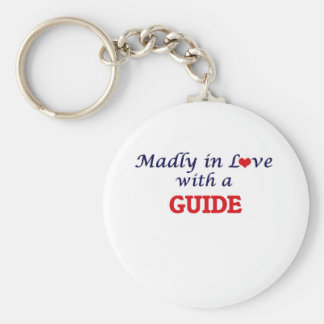 Madly in love with a Guide Basic Round Button Keychain