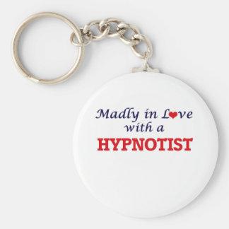 Madly in love with a Hypnotist Basic Round Button Keychain