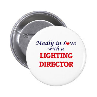 Madly in love with a Lighting Director 2 Inch Round Button