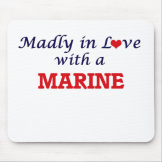 Madly in love with a Marine Mouse Pad
