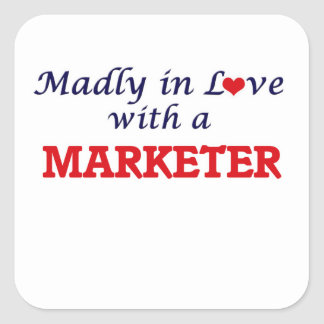 Madly in love with a Marketer Square Sticker
