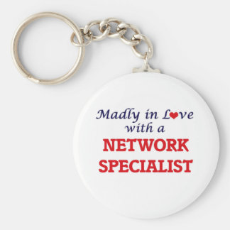 Madly in love with a Network Specialist Basic Round Button Keychain