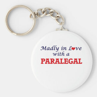 Madly in love with a Paralegal Basic Round Button Keychain