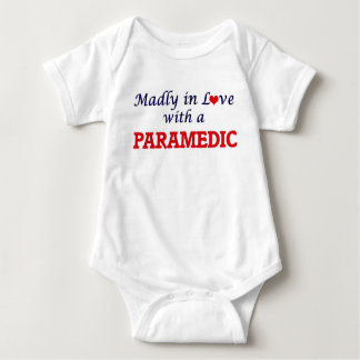 Madly in love with a Paramedic Baby Bodysuit