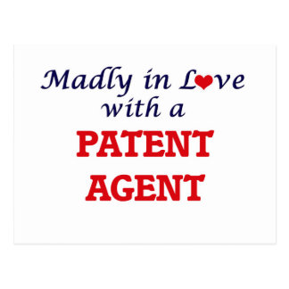Madly in love with a Patent Agent Postcard