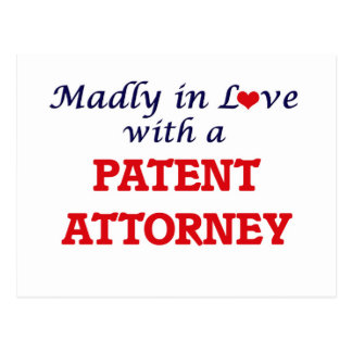 Madly in love with a Patent Attorney Postcard
