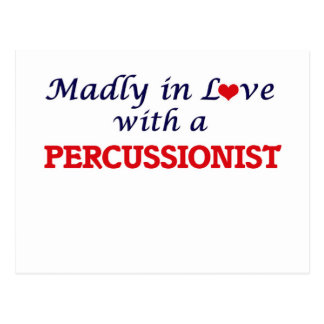 Madly in love with a Percussionist Postcard