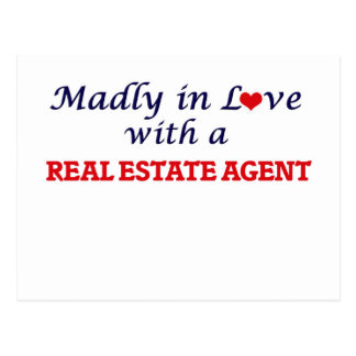 Madly in love with a Real Estate Agent Postcard