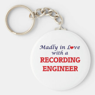 Madly in love with a Recording Engineer Basic Round Button Keychain