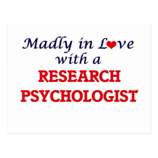 Madly in love with a Research Psychologist Postcard