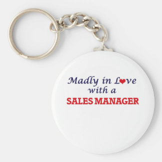 Madly in love with a Sales Manager Basic Round Button Keychain