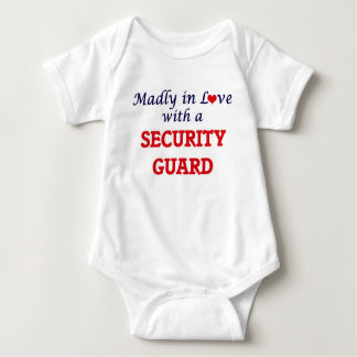 Madly in love with a Security Guard Baby Bodysuit