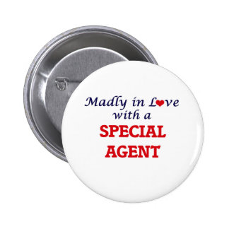Madly in love with a Special Agent 2 Inch Round Button