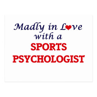 Madly in love with a Sports Psychologist Postcard