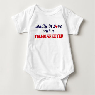 Madly in love with a Telemarketer Baby Bodysuit