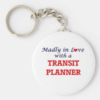 Madly in love with a Transit Planner Basic Round Button Keychain