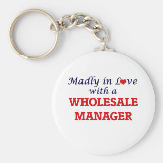 Madly in love with a Wholesale Manager Basic Round Button Keychain
