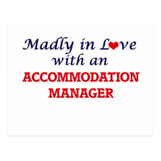 Madly in love with an Accommodation Manager Postcard