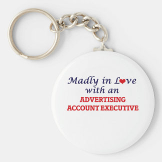Madly in love with an Advertising Account Executiv Basic Round Button Keychain