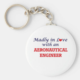 Madly in love with an Aeronautical Engineer Basic Round Button Keychain