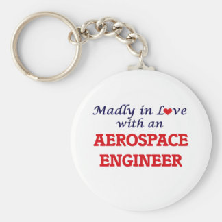 Madly in love with an Aerospace Engineer Basic Round Button Keychain