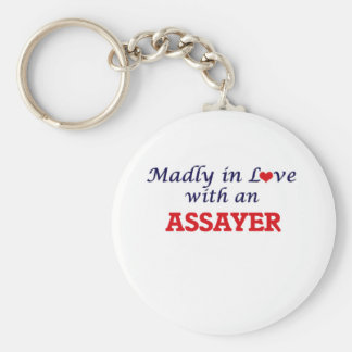 Madly in love with an Assayer Basic Round Button Keychain