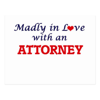 Madly in love with an Attorney Postcard
