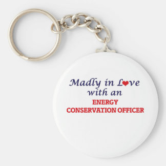 Madly in love with an Energy Conservation Officer Basic Round Button Keychain
