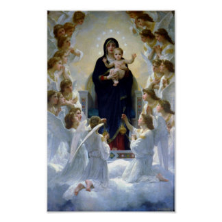 Madona Queen of Angels Bouguereau Regina Angelorum Poster