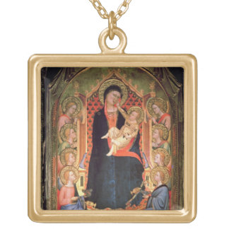 Madonna and Child, 1347 Gold Plated Necklace