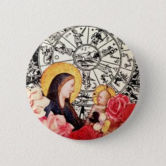 madonna and child 2 inch round button